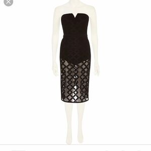 River island sheer lace dress